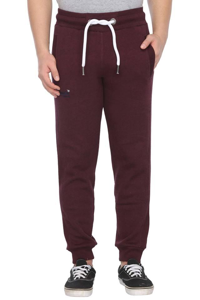 Mens 3 Pocket Solid Joggers