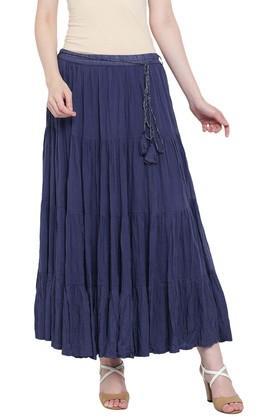 RANGRITIWomens Solid Casual Skirt