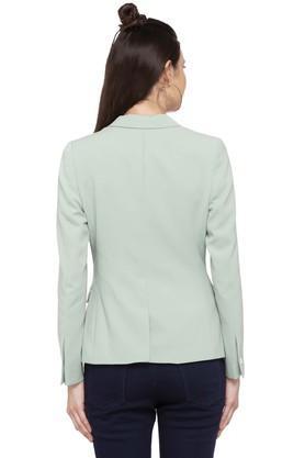 Womens Peak Lapel Solid Blazer