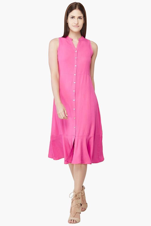 Womens Flounce Hem Dress