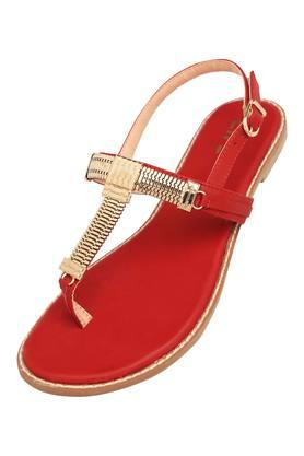 Womens Casual Wear Buckle Closure Flat Sandals