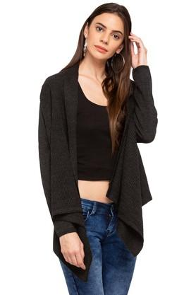 MSTAKEN Womens Open Neck Solid Shrug - 203745262_9204