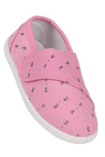 Girls Bunny & Cat Printed Velcro Closure Sneakers
