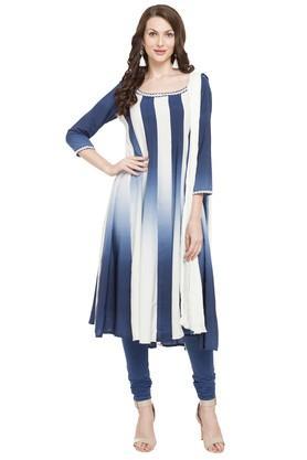 Womens Round Neck Anarkali Suit