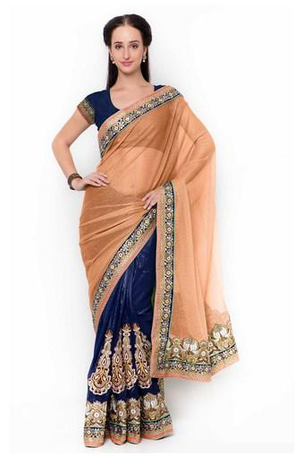 Womens Faux Georgette Designer Saree