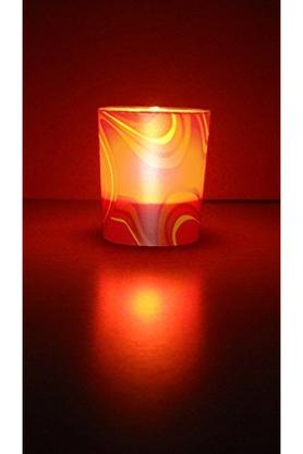 IRIS Round Decorative Glow Lights Candle Pack Of 2