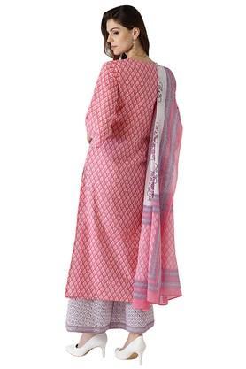 Womens Cotton Printed Kurta Set