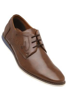 VENTURINI Mens Leather Lace Up Derbys - 203947787_9130