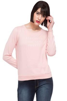 LIFEWomens Round Neck Graphic Print Sweatshirt