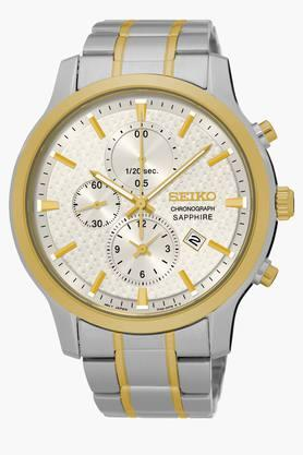 SEIKO Mens Dress Chronograph White Dial Watch SNDG68P1