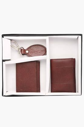 VETTORIO FRATINIMens Leather 2 Fold Wallet With Card Holder And Key Ring Set
