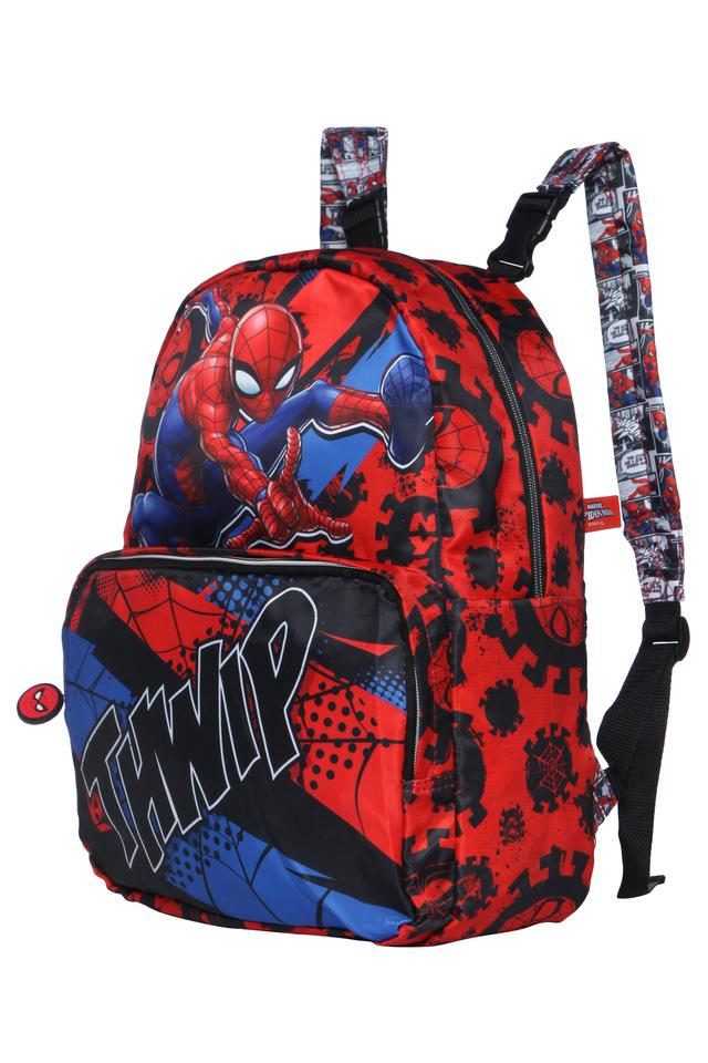 Boys Spiderman Thwip Zip Closure Reversible School Bag