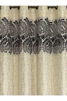 Polyester Logan Leaf Printed Long Door Curtain