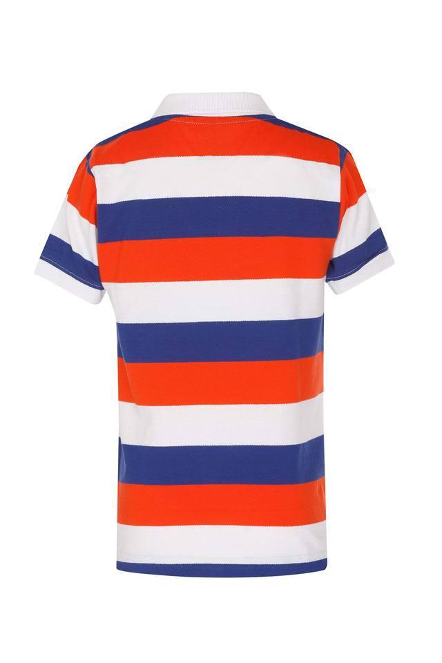 Boys Colour Block Polo T-Shirt