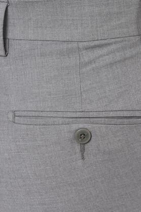 Mens Slim Fit 4 Pocket Slub Formal Trousers