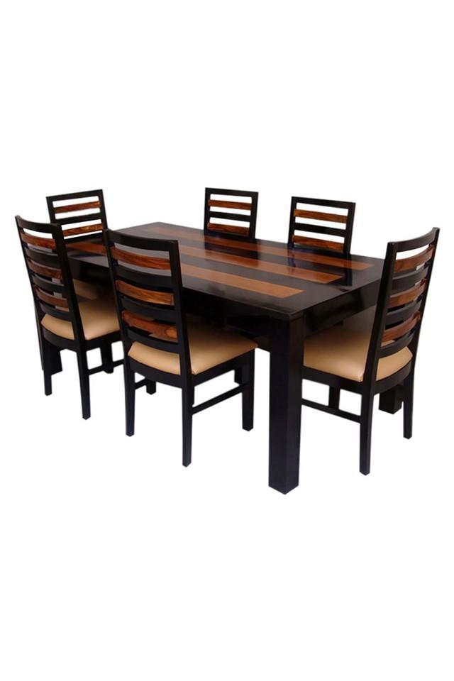 Black Browny 6 Seater Dining Set