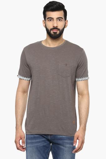 Mens Round Neck Slub T-Shirt