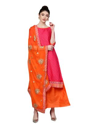 cbd542d0c30 X ISHIN Womens Solid Embroidered Unstitched Salwar Suit Dress Material ...