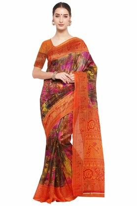 RACHNA Womens Printed Bhagalpuri Silk Saree - 204088348_9508