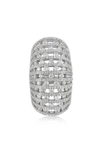 Womens Stone Studded Ring