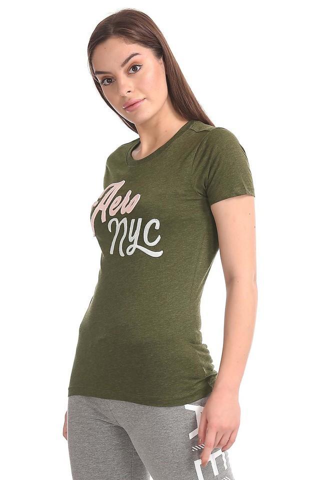 Womens Slub Applique T-Shirt