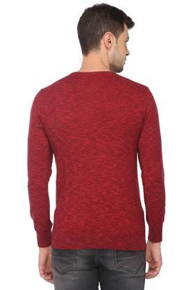 Mens Round Neck Slub Sweater