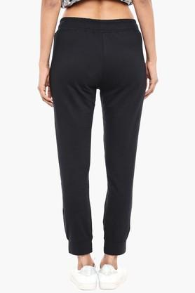 Womens 2 Pocket Solid Joggers