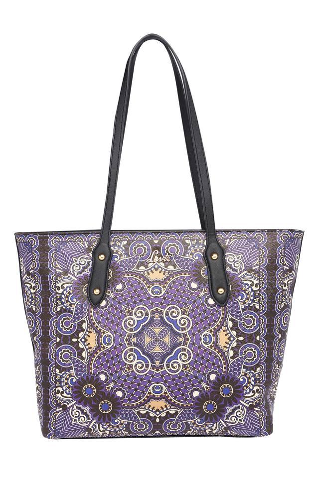 Womens Zipper Closure Tote Handbag