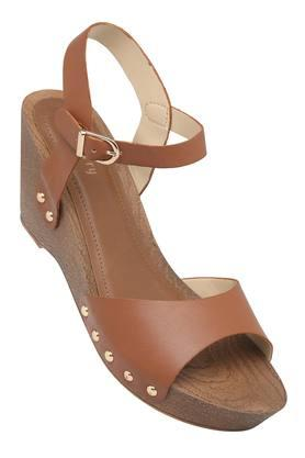 HAUTE CURRY Womens Casual Wear Buckle Closure Wedges