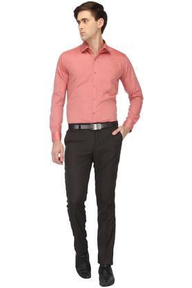 Mens Slim Collar Slub Shirt