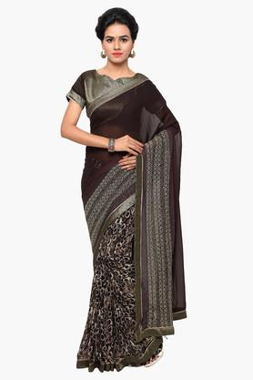 DEMARCA Womens Faux Georgette Printed Saree - 203229559