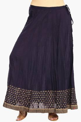 BIBA Womens Printed Flared Long Skirt - 203041681