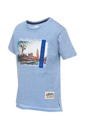 Boys Round Neck Slub T-Shirt