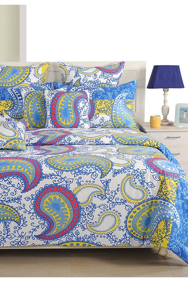 Blue and Yellow Motifs Double AC Comfortor