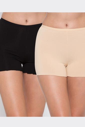 Womens Solid Tights - Pack of 2