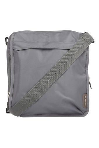 Unisex Zipper Closure Sling Bag