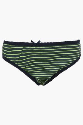 Girls Printed Stripe and Solid Briefs - Pack of 5