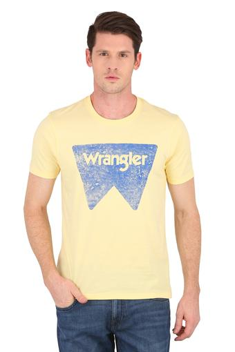 WRANGLER -  Yellow T-shirts - Main