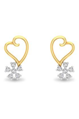 P.N.GADGIL JEWELLERSWomens Floral Feet Heart Earring - DIDE0022