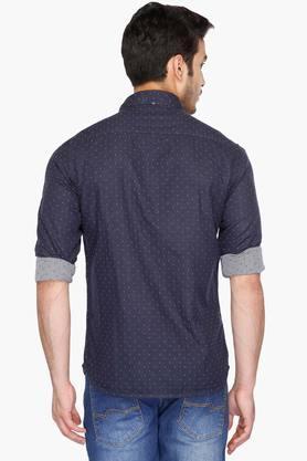 Mens Cutaway Collar Reversible Printed Shirt