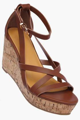 ALLEN SOLLY Womens Party Wear Buckle Closure Wedges