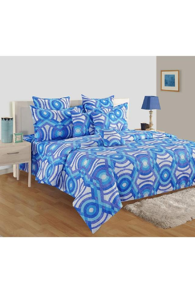Cotton Geometric Printed Double AC Comforter