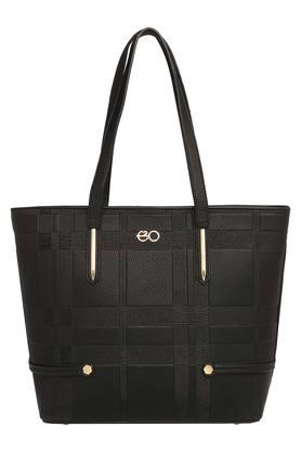 E2O Womens Zipper Closure Tote Handbag - 204276872_9212