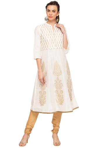IMARA -  Off WhiteSalwar & Churidar Suits - Main