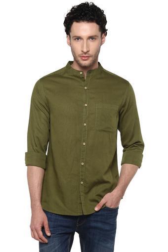 LIFE -  OliveCasual Shirts - Main