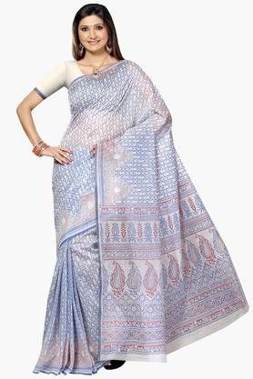 DEMARCA Womens Cotton Blend Printed Saree - 203229473
