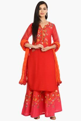 BIBA Womens Cotton Straight Kurta - 202385024