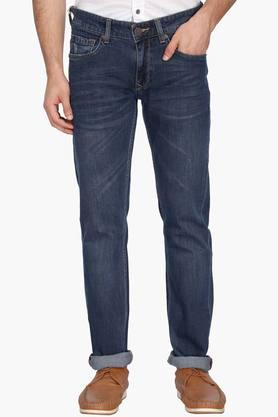 LOUIS PHILIPPE JEANS Mens Slim Fit Mild Wash Jeans (Matt Fit) - 202776067