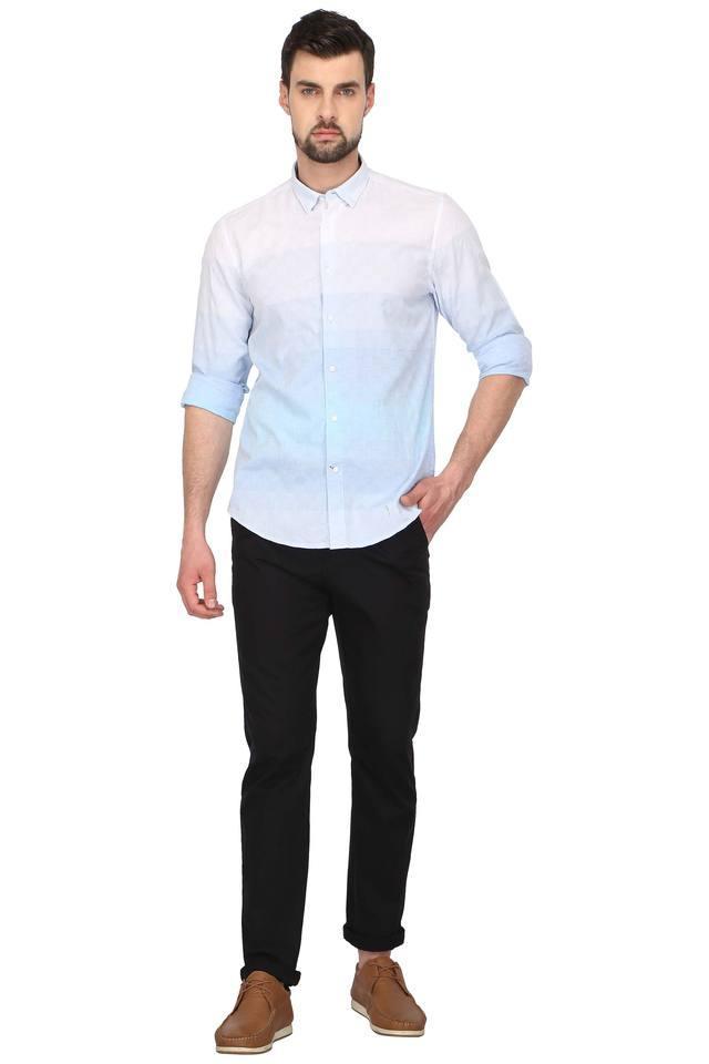 Mens Colour Block Casual Shirt