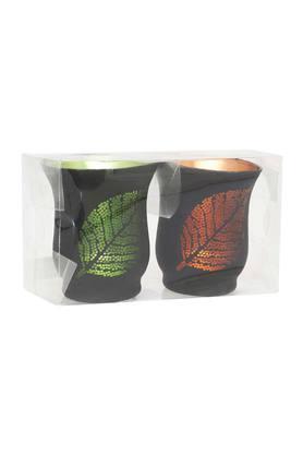 IVYRound Leaf Tumbler Candle Votive Set Of 2